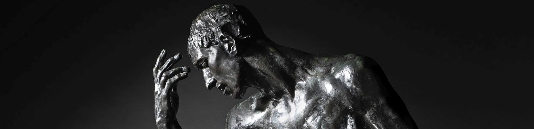 Auguste Rodin. L'un des Bourgeois de Calais: Étude de nu monumentale pour Pierre de Wissant, detalle. Estimación: £400,000-600,000