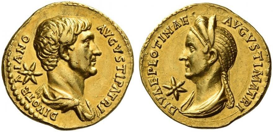 aureo-de-trajano-y-plotina.-salida-100.000-chf.-numismatica-ars-classica