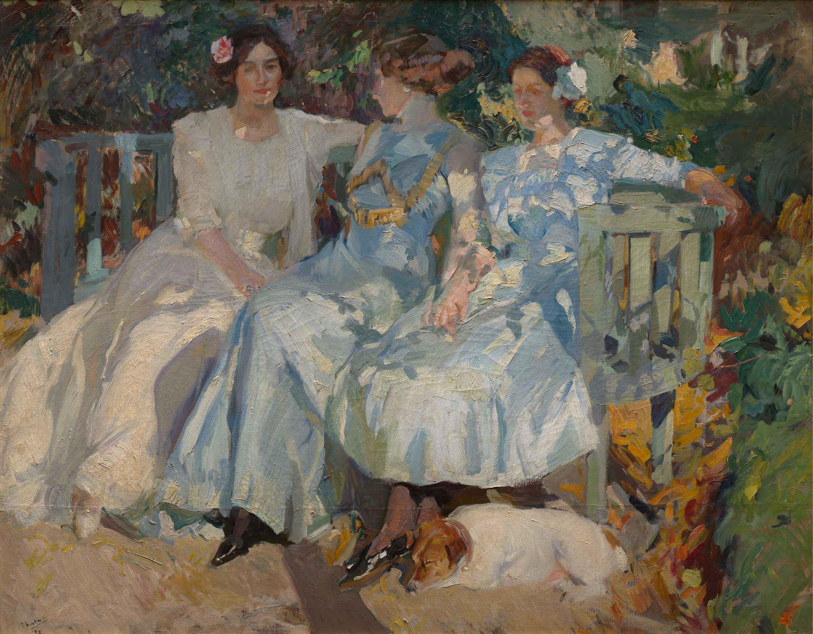 09_joaquinsorolla_mi_mujer_y_mis_hijas_en_el_jardin_1910_fmcmp_marcosmorilla