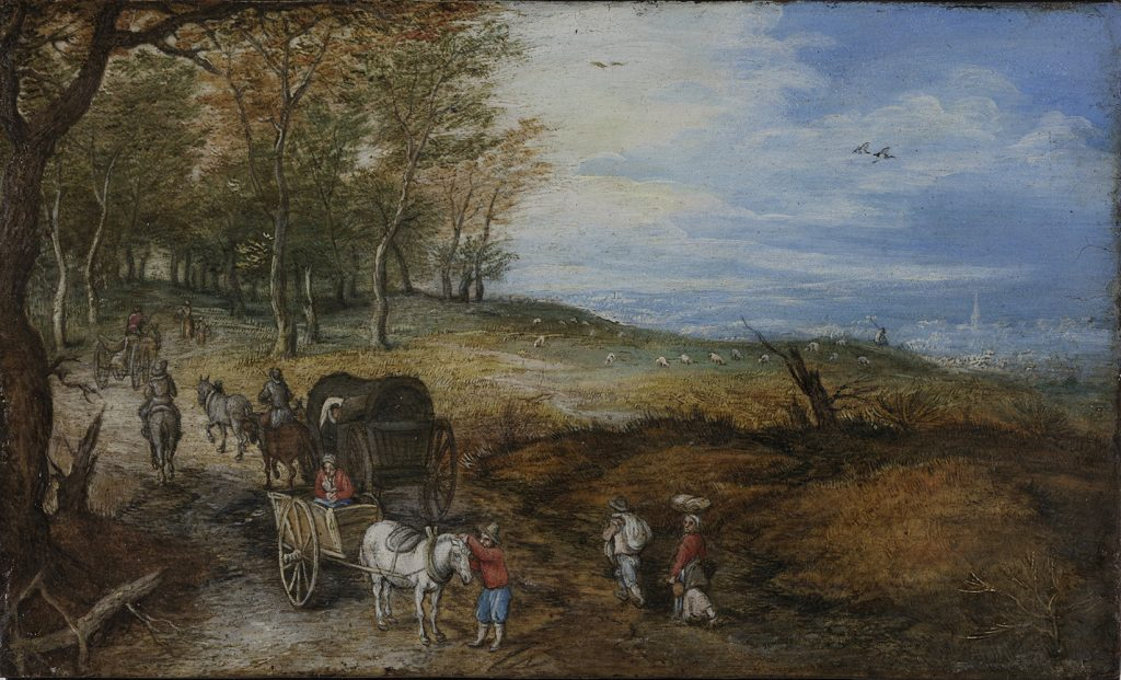 11.-viajeros-con-coches-en-una-carretera-de-campo-jan-brueghel-el-viejo-ca.-1610-cortesa-arthemisia-espaa