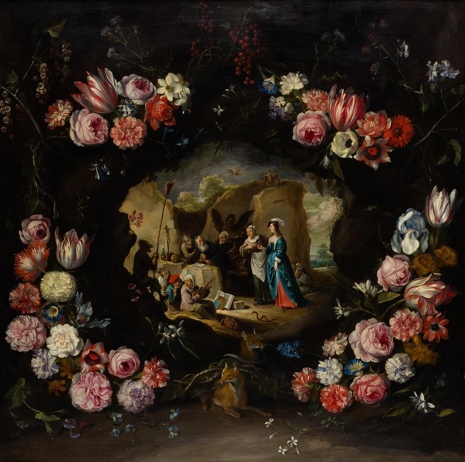 14.-guirnalda-de-flores-con-las-tentaciones-de-san-antonio-david-teniers-el-joven-jan-brueghel-el-joven-cortesa-arthemisia-espaa