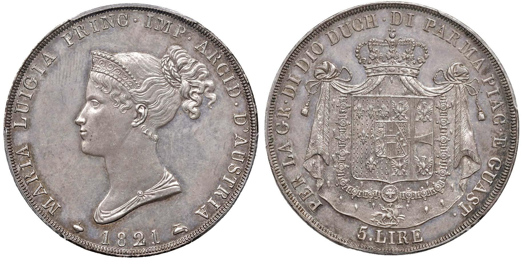 5-liras-de-maria-luisa-de-parma-de-1821.-salida-250.000-euro.-nomisma