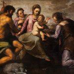 Escuela veneciana del siglo XVI, atribuido a Bonifazio de Pitati o Bonifazio Veronese. La Virgen con Niño, san Juan Bautista, santa Águeda y santa Catalina de Alejandría. Salida: 15.000 euros