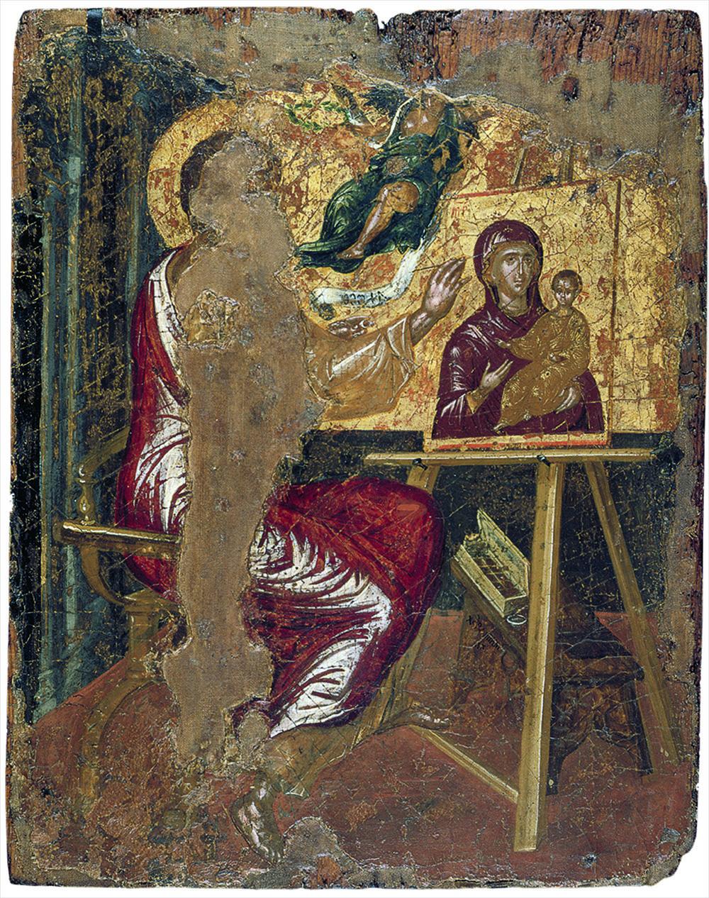 The Apostle Luke Painting the Virgin Hodegetria, c.1564 (egg tempera on panel) (see also 258170)