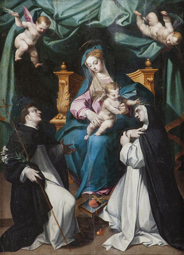 Gregorio Martínez. La Virgen con el Niño, santo Domingo de Guzmán y santa Clara. Salida: 60.000 euros. No vendido