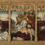 Juan de Bustamante. Predela con la Piedad flanqueada por santos y santas. Salida y remate: 33.000 euros