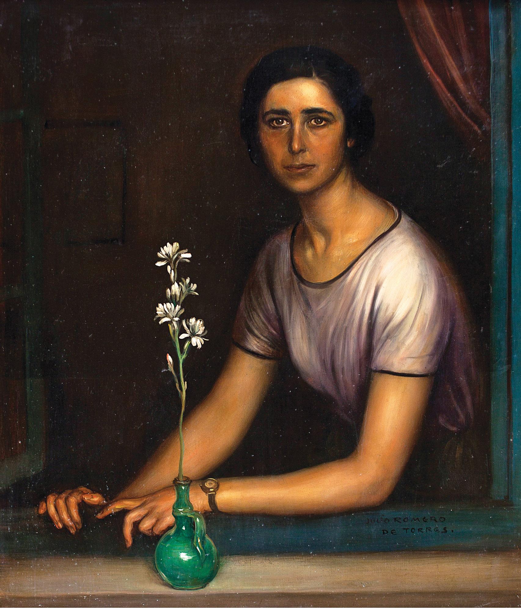 Julio Romero de Torres. La niña del nardo, c. 1928. Salida: 40.00 euros. Remate: 55.000 euros