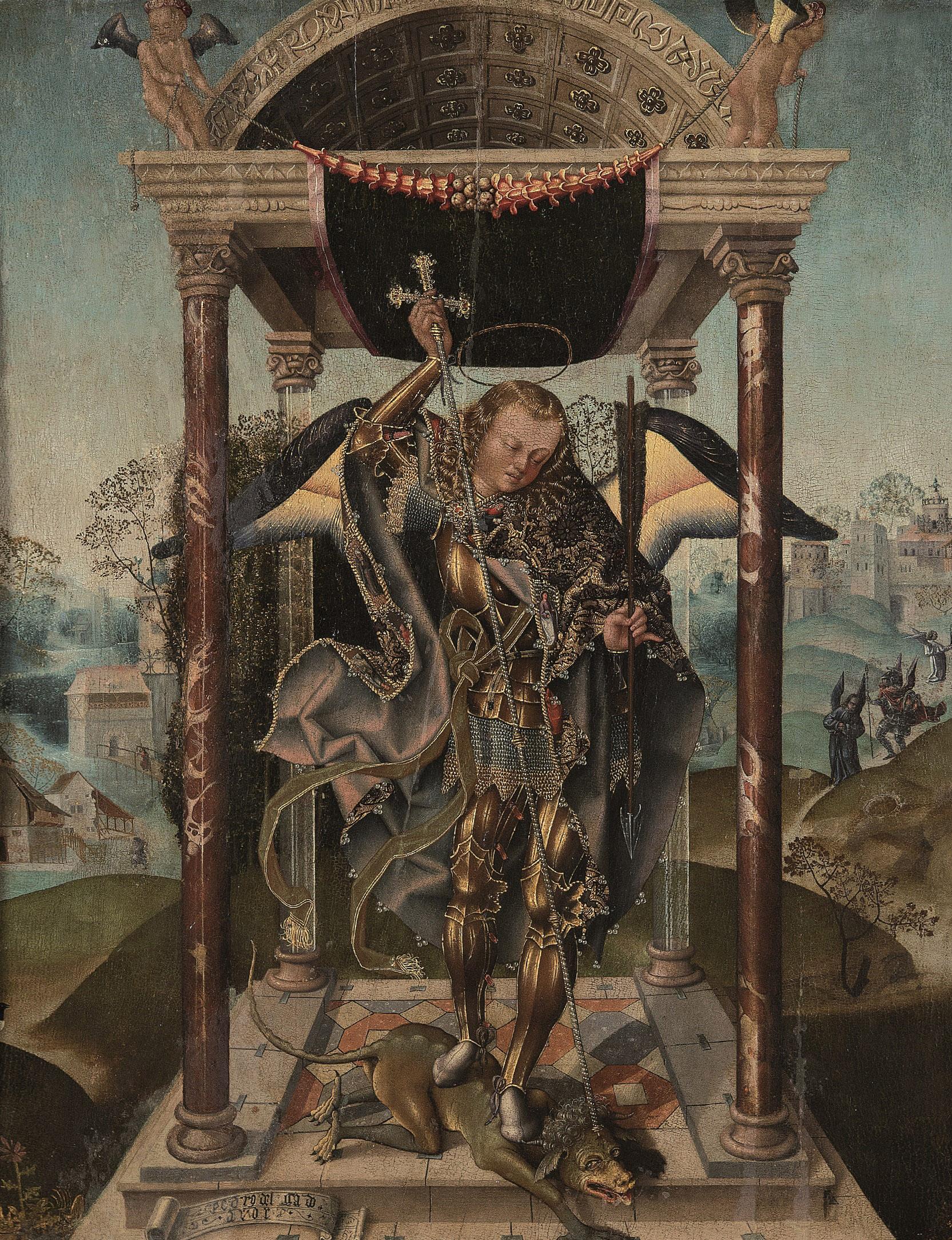 Pedro Delgado. San Miguel venciendo al demonio, 1510. Salida: 295.000 euros. No vendido