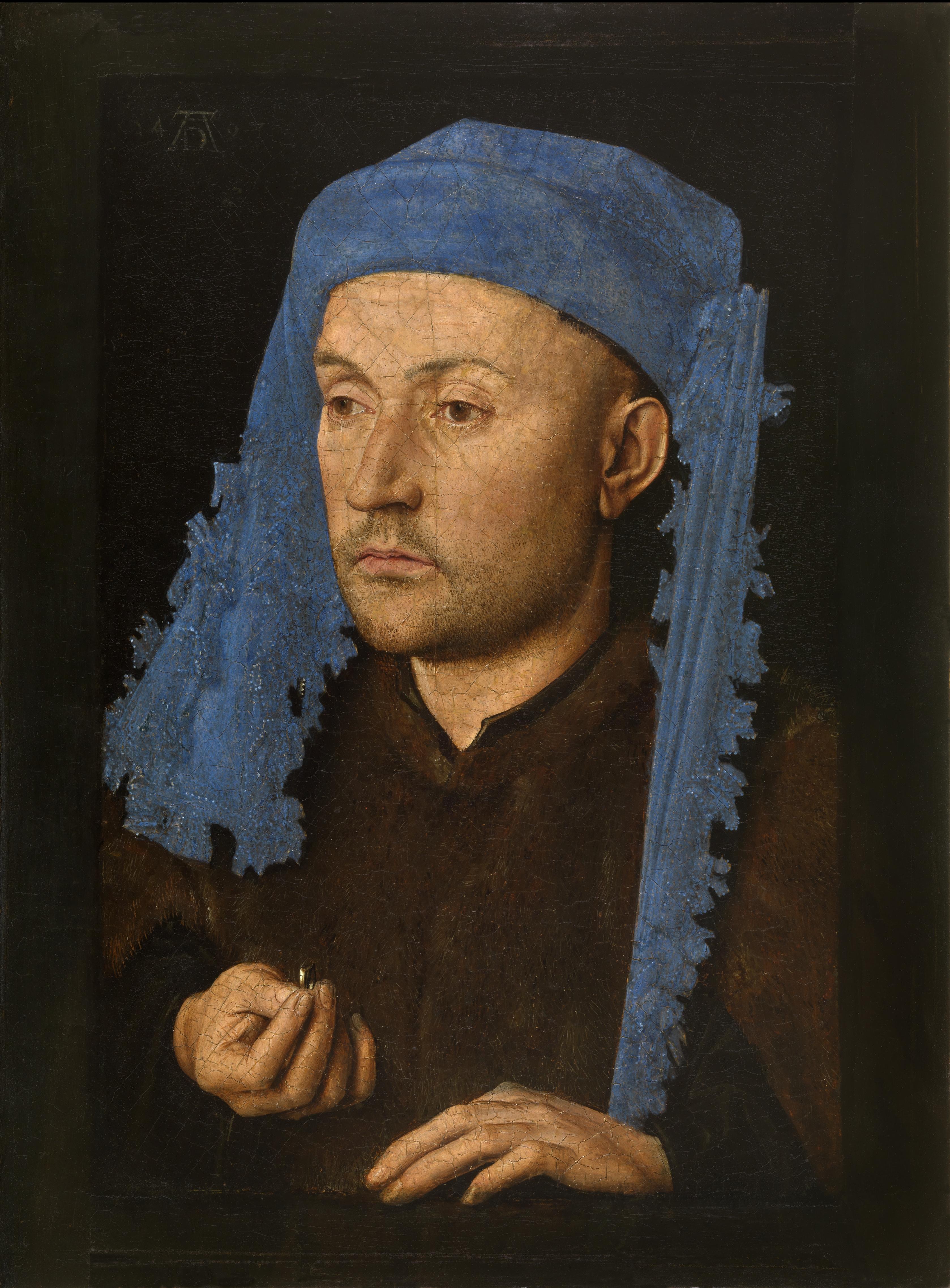 05-portret-van-een-man-met-blauwe-kaproen