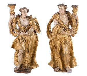691-pareja-de-esculturas-realizadas-en-madera-talladas-y-policromadas-representando-a-dos-ngeles-sosteniendo-unas-cornucopias.-espaa.-s.-xvii-xviii.-mantos-dorados.