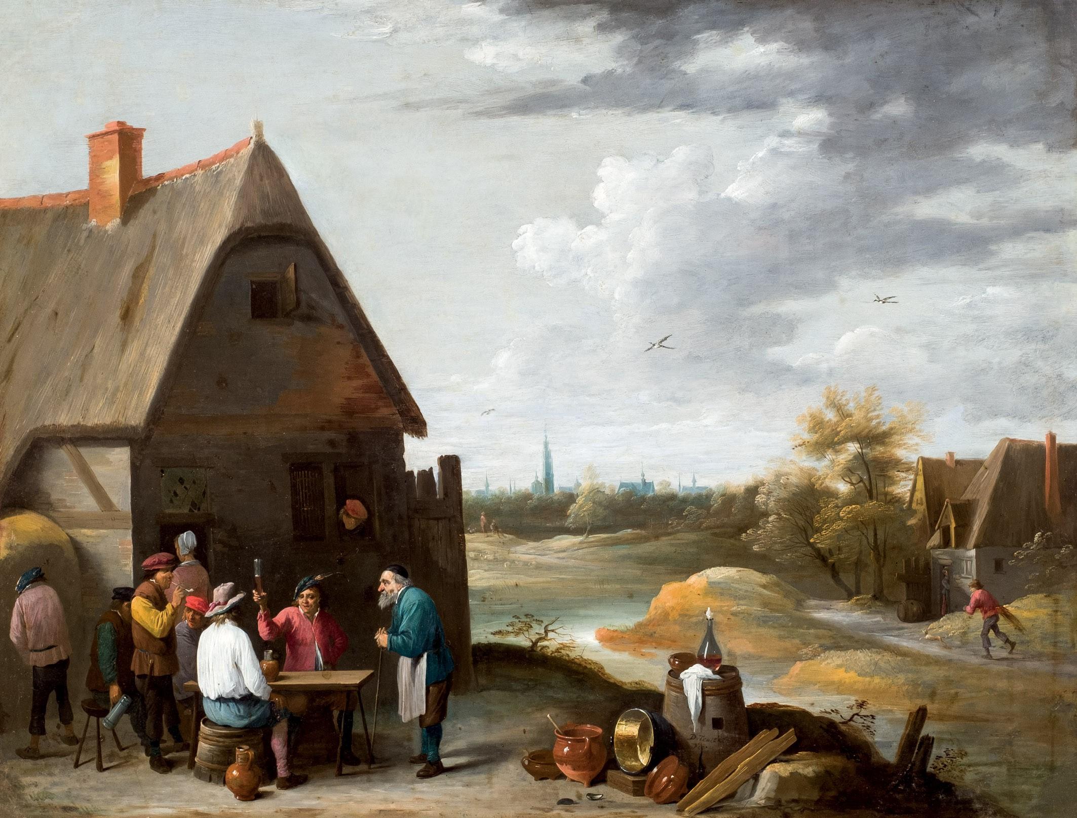 David Teniers el Joven. Bebedores en la venta. Salida: 15.000 euros. No vendido