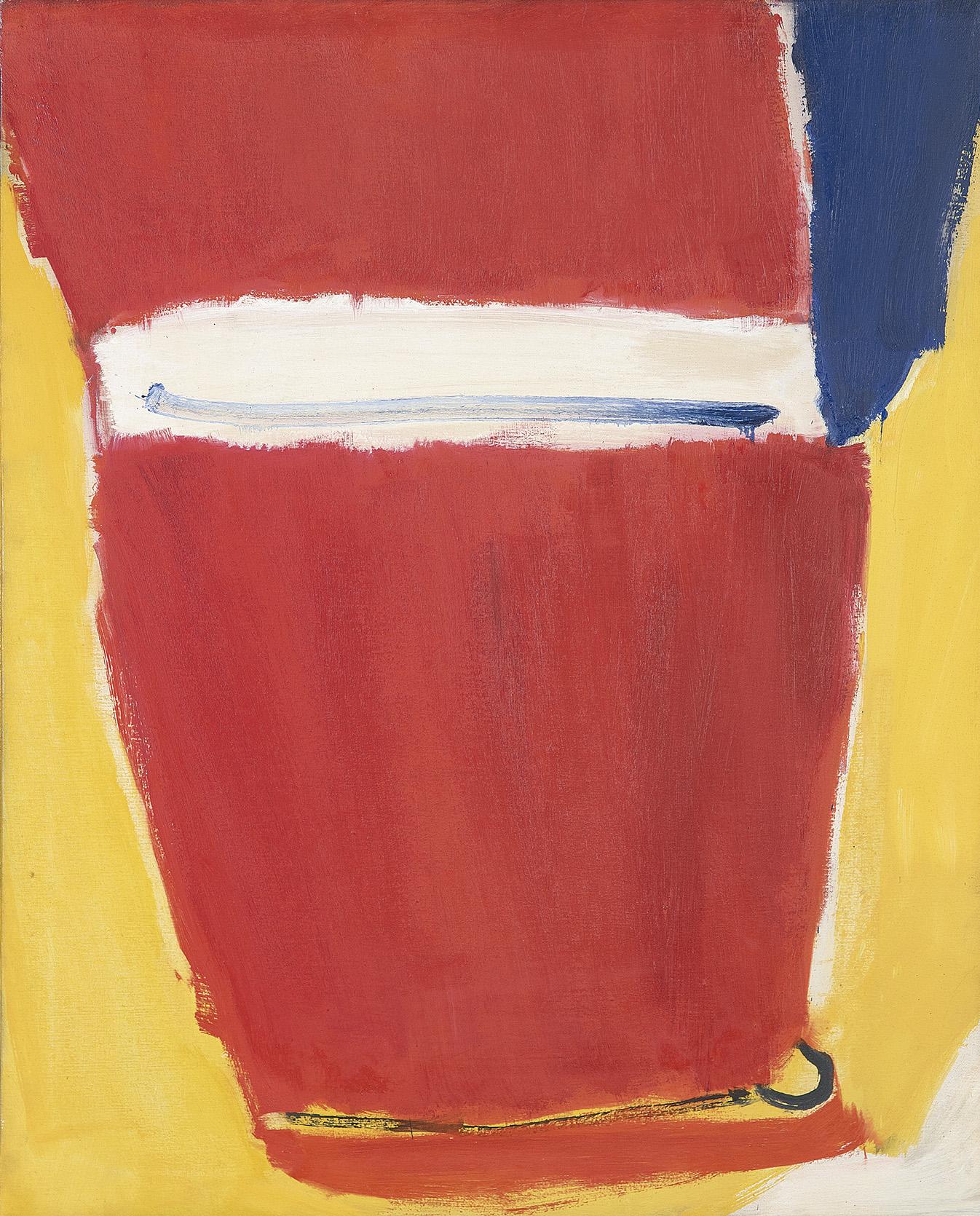 José Guerrero. Rojo intenso, 1979. Salida: 40.000 euros. Remate: 70.000 euros