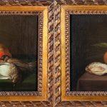 Zacarías González Velázquez. Bodegón con aves y jarra de cristal, y Bodegón con ostras y almendras. Salida: 30.000 euros. No vendido