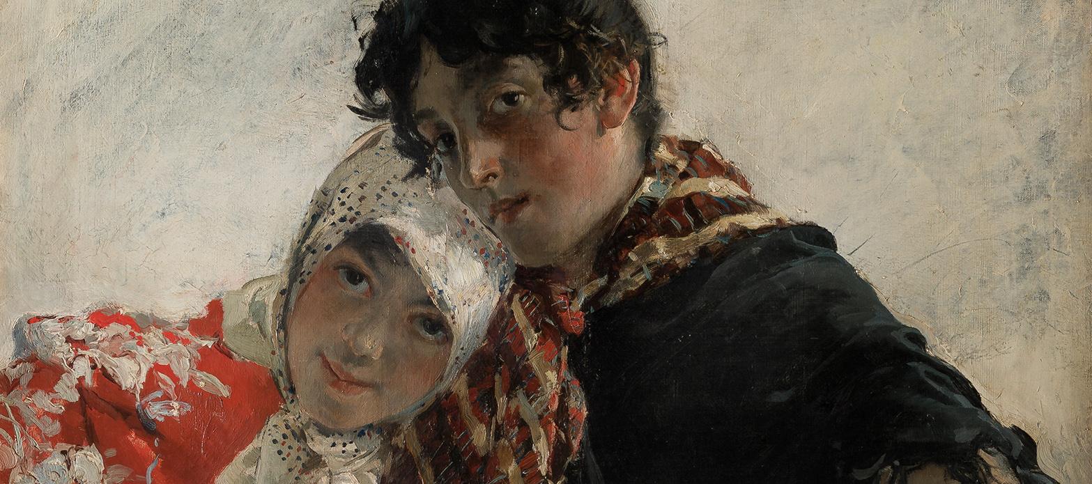 Joaquín Sorolla. Las chulas, 1887, detalle