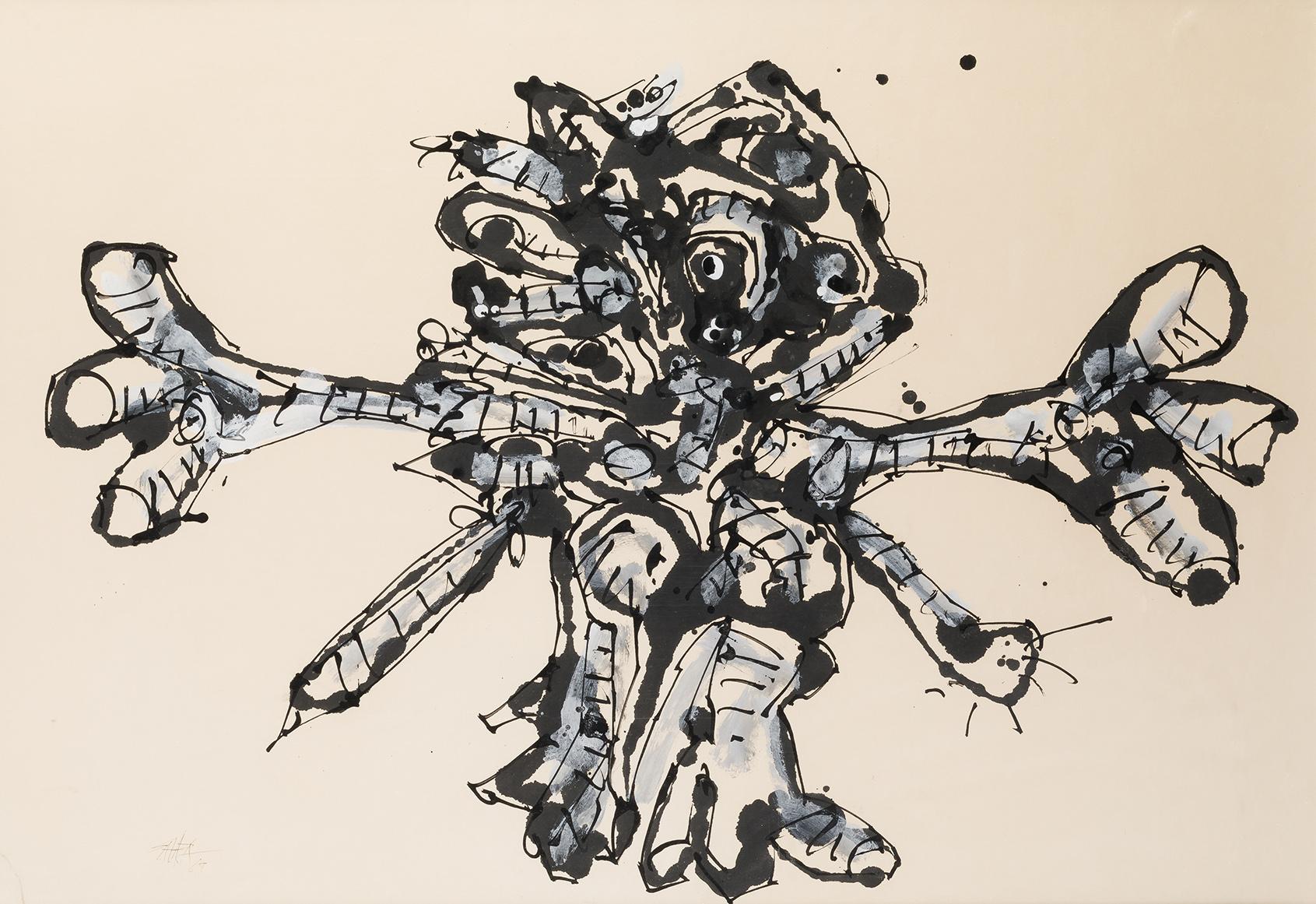 Antonio Saura. Crucifixión, 1968. Salida: 26.000 euros. Remate: 34.000 euros