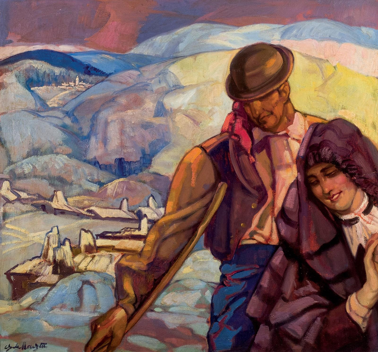 Gustavo de Maeztu. Idilio salacenco, c. 1935/45. Salida y remate: 6.000 euros