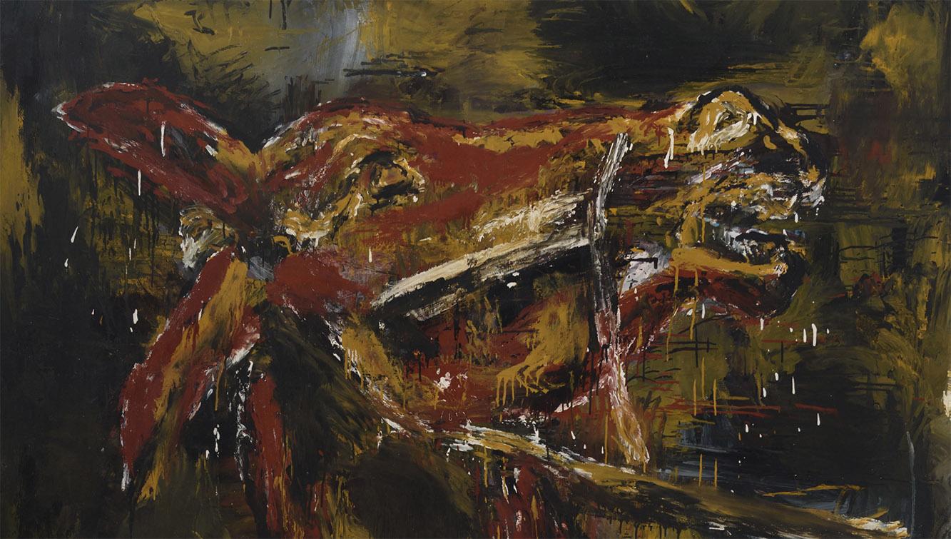 José María Sicilia. Burro negro, 1983, detalle. Salida: 15.000 euros. Remate: 17.000 euros