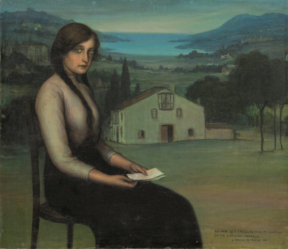 Julio Romero de Torres. Retrato de Aurora Semprún Ramos. Salida: 90.000 euros. Remate: 110.000 euros