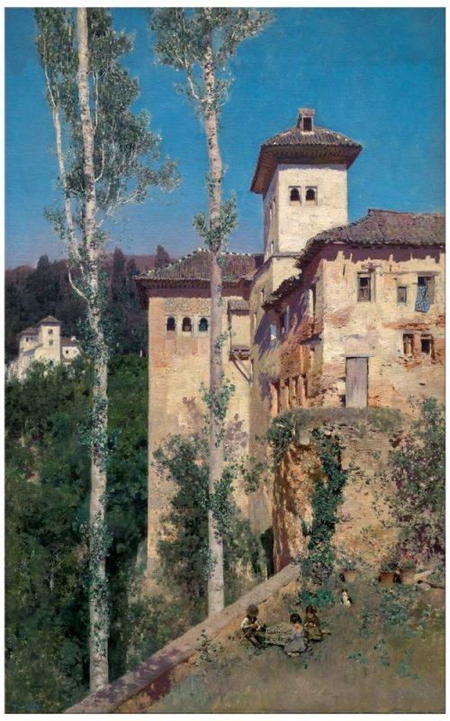 martin-rico-la-torre-de-las-damas-en-la-alhambra-de-granada