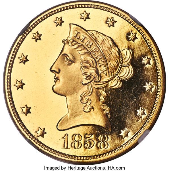 10-dlares.-1858.-rematado-en-480.000.-heritage-auctions