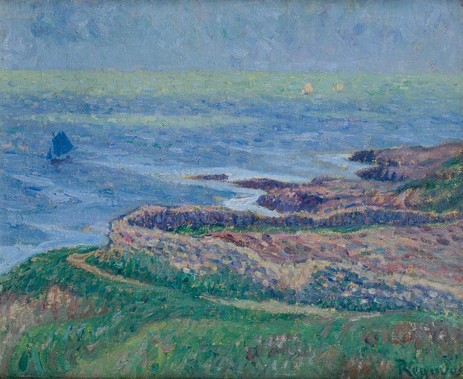 Darío de Regoyos. Marina (San Vicente de la Barquera), 1910. Salida: 28.000 euros. Remate: 48.000 euros