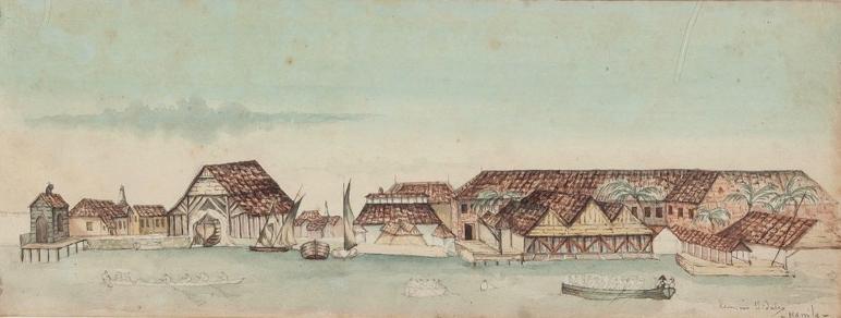 Félix Resurrección Hidalgo. Puerto de Manila. Salida: 3.500 euros. No vendida