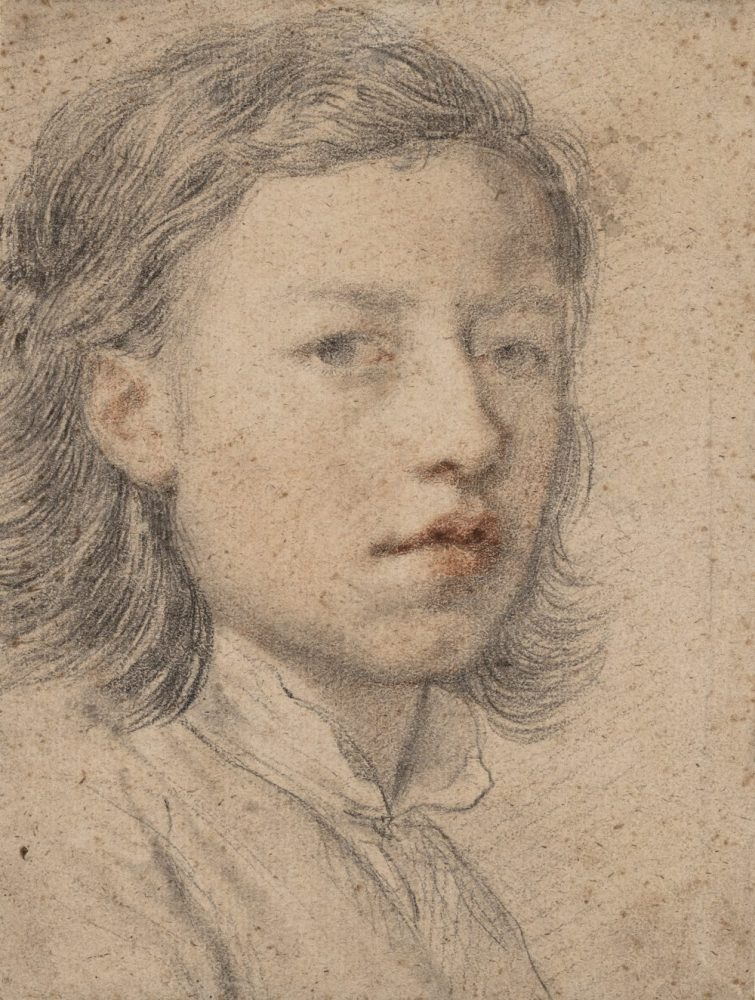 Anton Raphael Mengs: Selbstbildnis mit zwölf Jahren, 1740