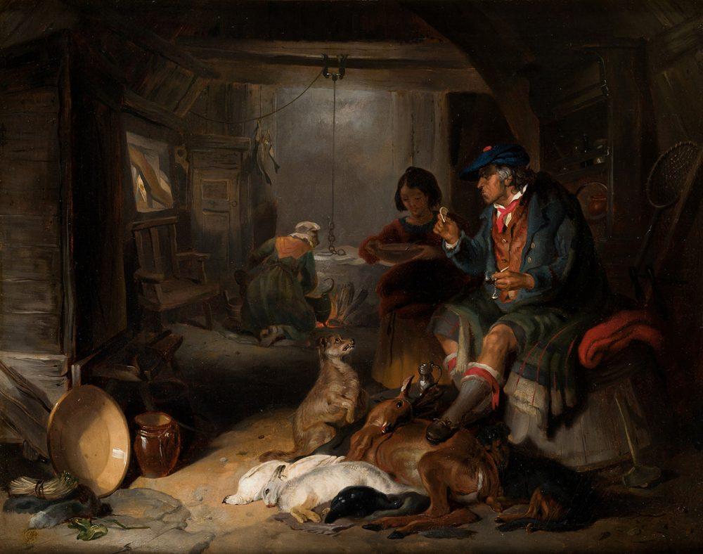 Edgar Henry Landseer. Highland interior, 1831. Salida y remate: 44.000 euros