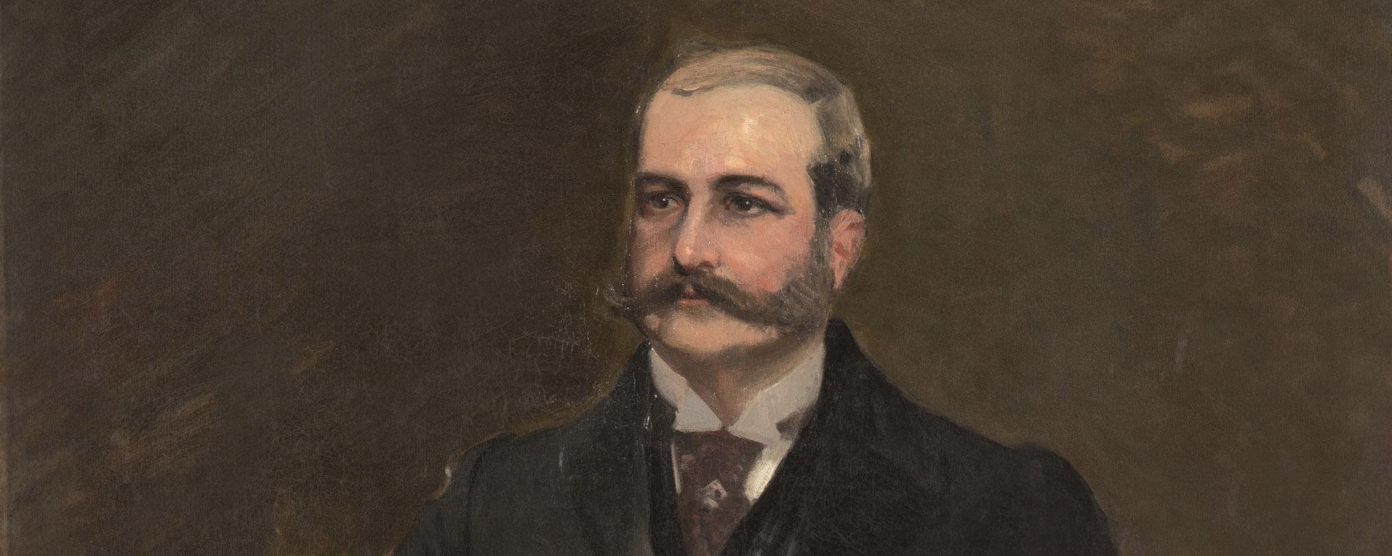 Joaquín Sorolla. Retrato de don Ricardo de Lezica y Thompson, c. 1906/7, detalle. Salida: 60.000 euros