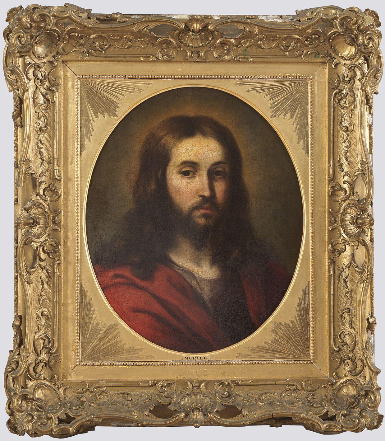 Bartolomé Esteban Murillo. Cabeza de Cristo, c. 1655, con marco. Salida y remate: 85.000 euros