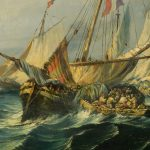 Una escena naval de Eugenio Lucas Velázquez por 12.000 euros en Alcalá Subastas