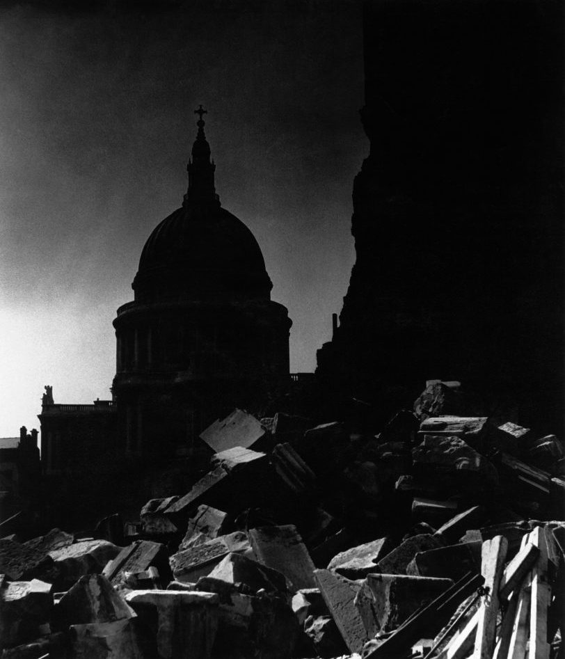St Paul's Cathedral in the moonlight, 1942