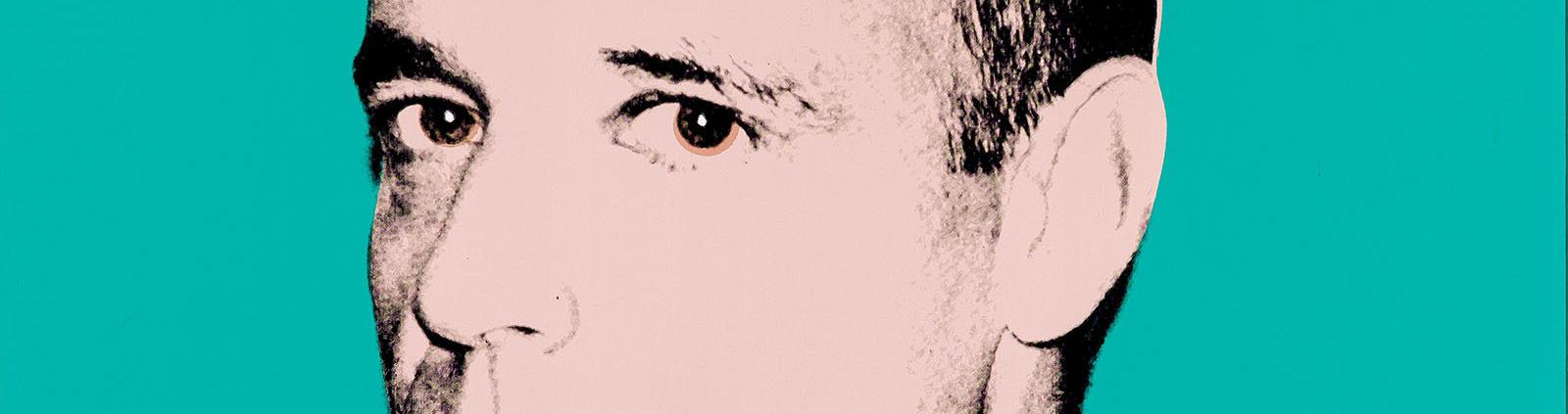 Andy Warhol. Portrait Oliver, 1980, detalle. Salida: 150.000 euros. No vendido