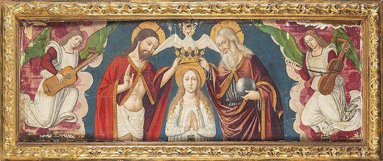 Escuela valenciana, siglo XV-XVI. Coronación de la Virgen por la Santísima Trinidad. Salida y remate: 25.000 euros