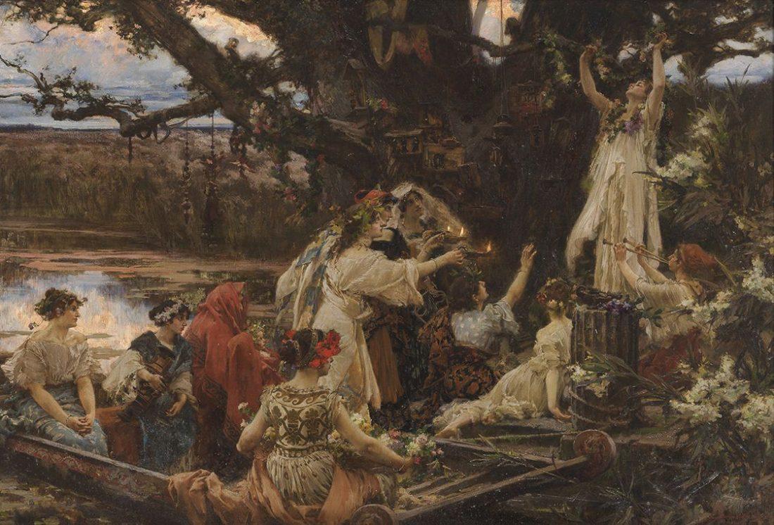 Francisco Pradilla. Bajo el árbol consagrado a Ceres. Ofrenda, 1903. Salida: 140.000 euros. No vendido