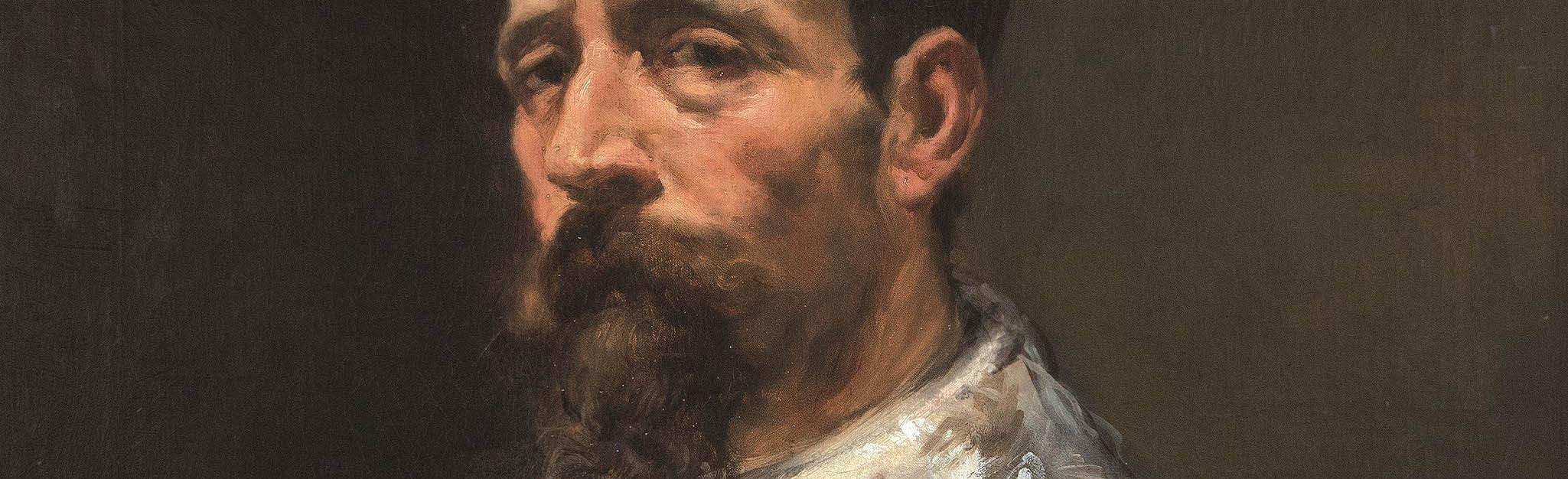 Joaquín Sorolla. Caballero con banda, 1882, detalle. Salida: 95.000 euros. No vendido. Comprado por el Estado para el Museo Sorolla