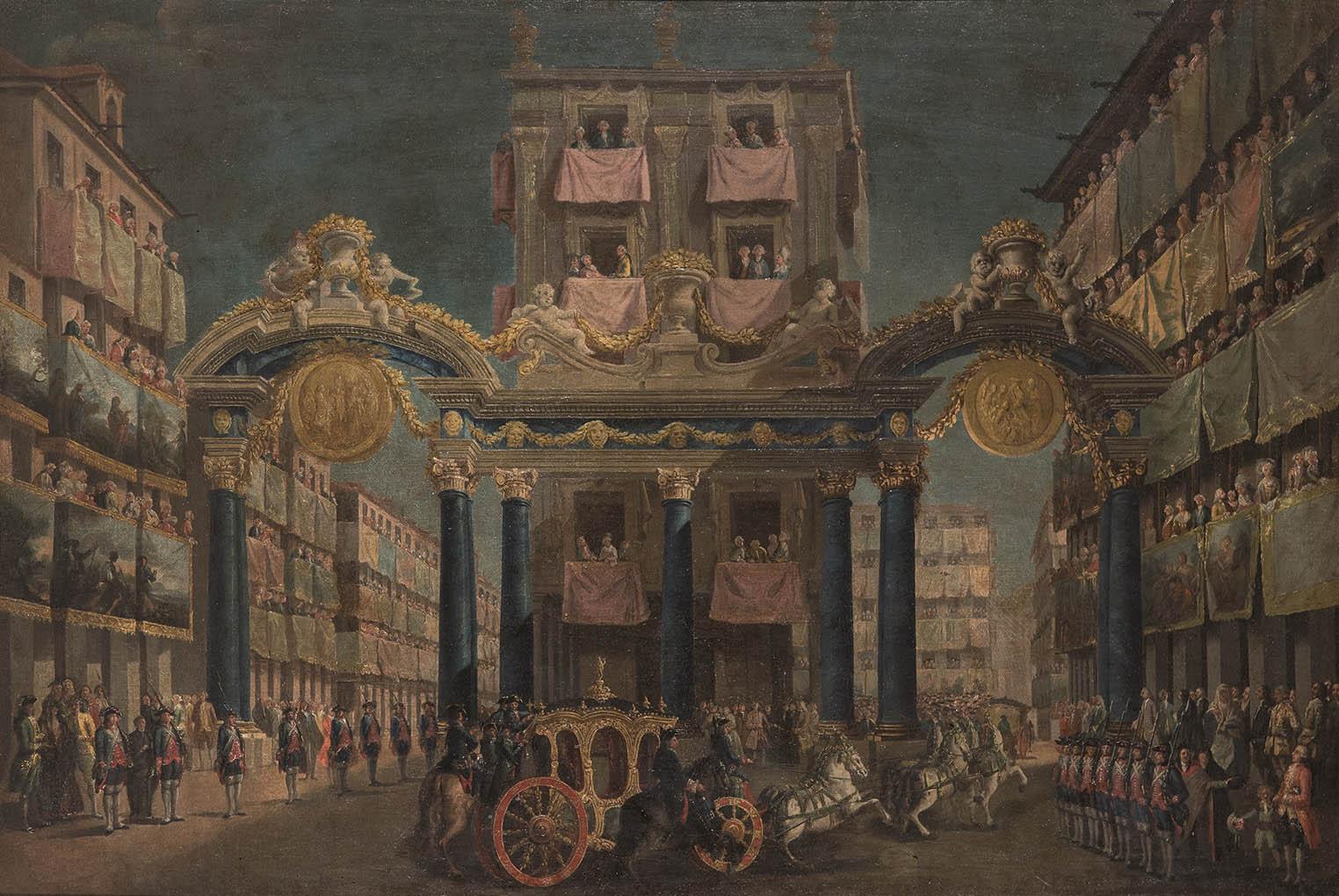 Lorenzo Quirós. Ornato en la Puerta de Guadalajara, 1760. Salida: 30.000 euros. Remate: 150.000 euros