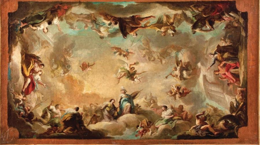 Mariano Salvador Maella. La apoteosis de Apolo y Atenea, 1788/90. Salida y remate: 40.000 euros