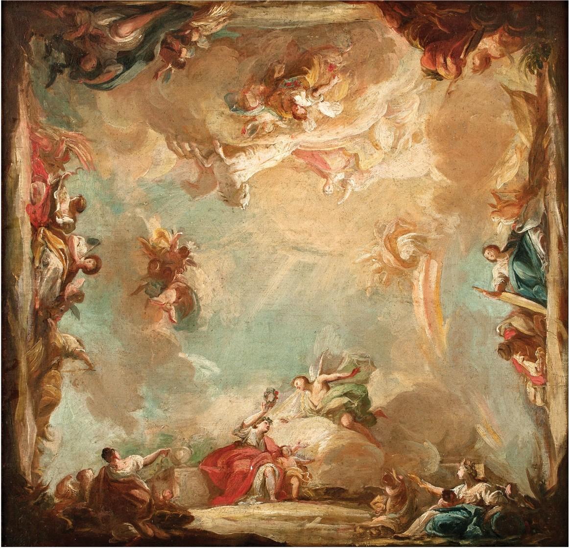 Mariano Salvador Maella. Alegoría de la Aurora en su carro del Sol acompañada por la Mañana, 1803/7. Salida: 30.000 euros. Remate: 37.500 euros
