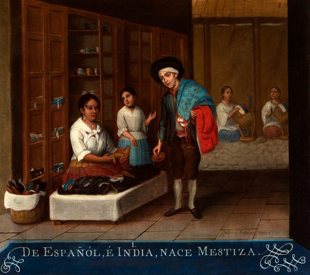 Biombos y pintura de castas para ilustrar la vida de Nueva España