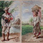 Félix Martínez Lorenzo. Tao Indio y Vendedora de frutos de Mariquina, 1884. Salida: 12.000 euros cada una. Remate: 14.000 euros cada una