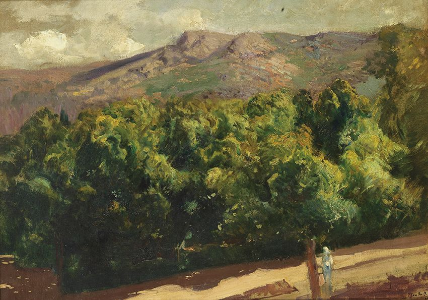 Joaquín Sorolla. La Selva. Jardines de la Granja de San Ildefonso, 1907. Salida: 125.000 euros. Remate: 140.000 euros