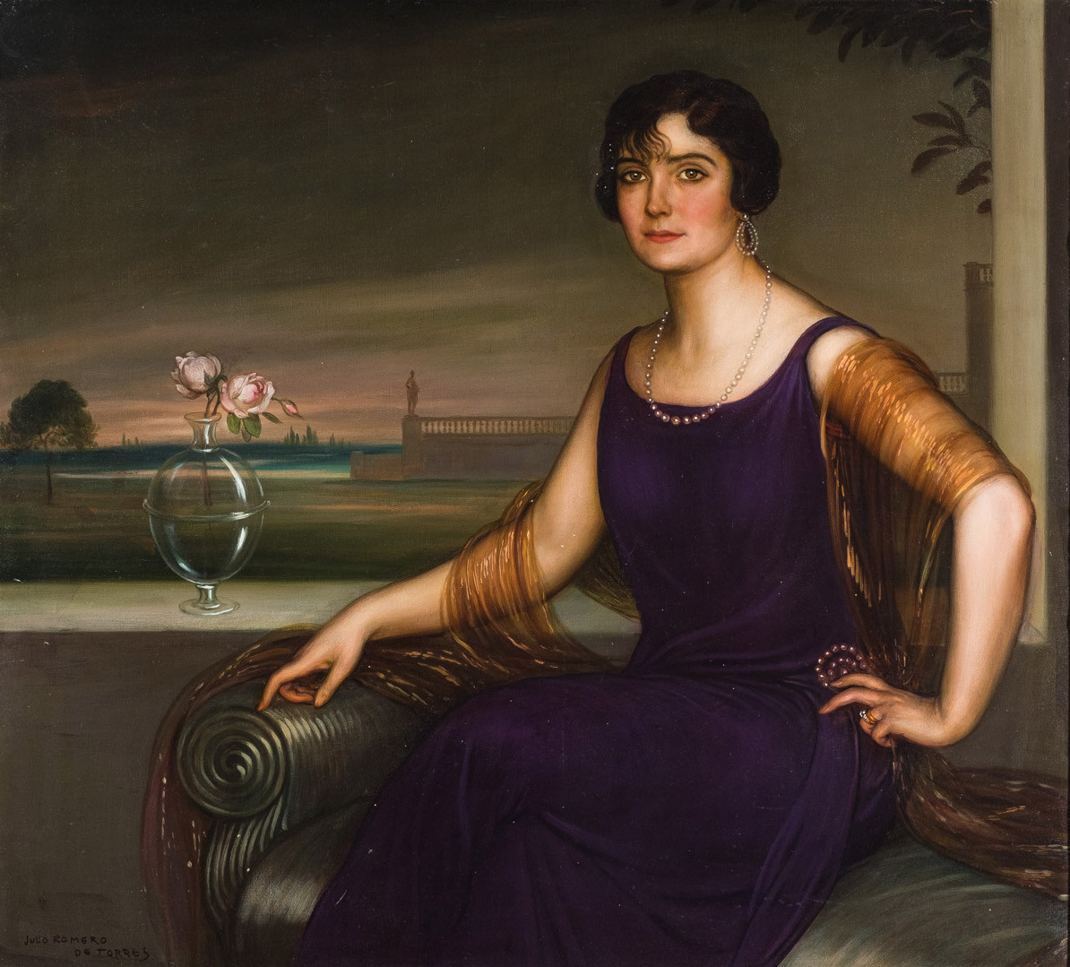 Julio Romero de Torres. Retrato de Nidia Apaolaza de Vela, 1922-1923. Salida: 180.000 euros. No vendido