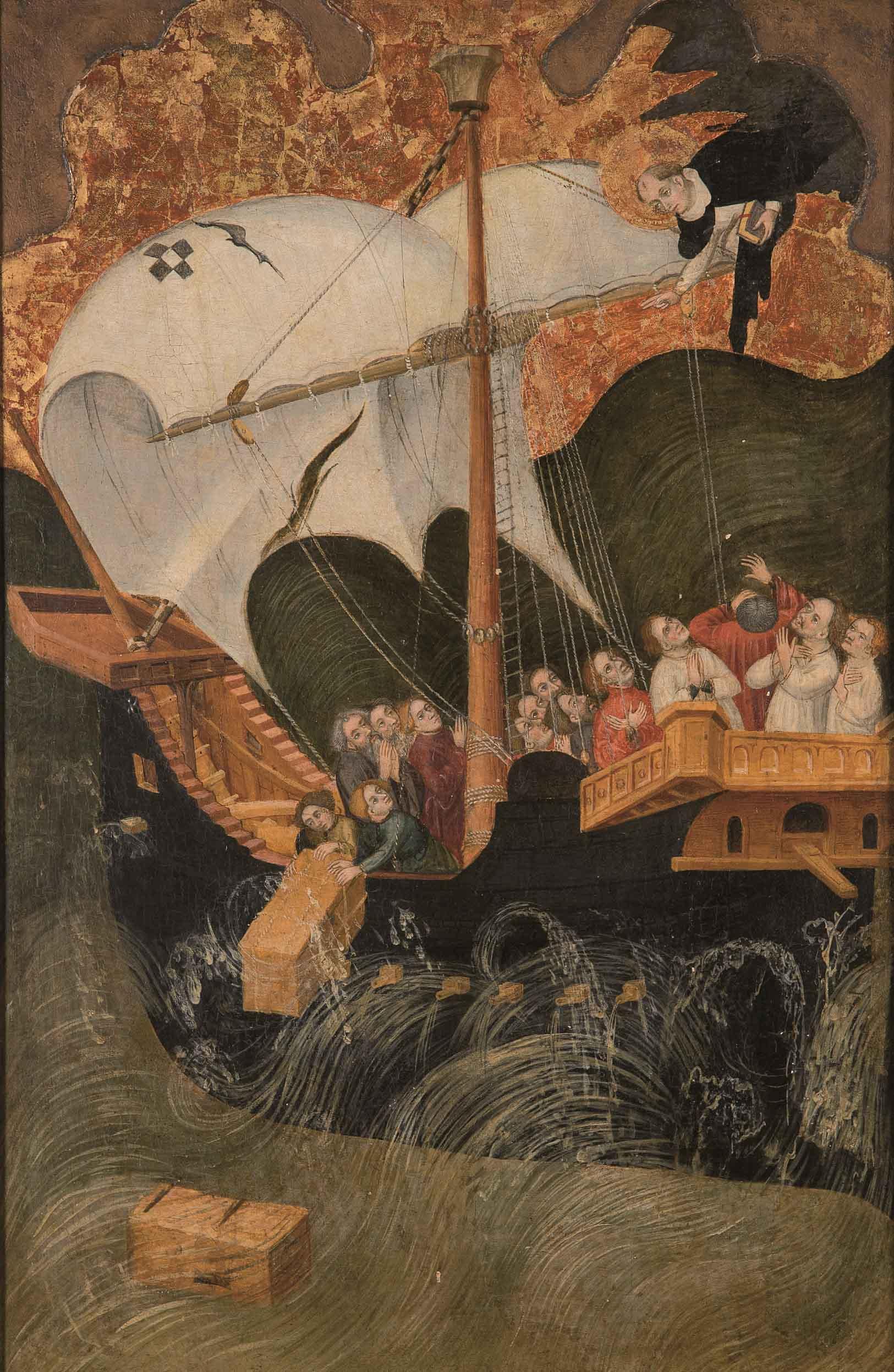 Lluis Borrassá y taller. Milagro de san Pedro Mártir y los náufragos, c. 1421-1425. Salida: 75.000 euros. Remate: 90.000 euros