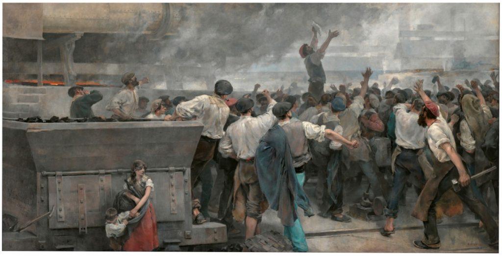 una-huelga-de-obreros-en-vizcaya