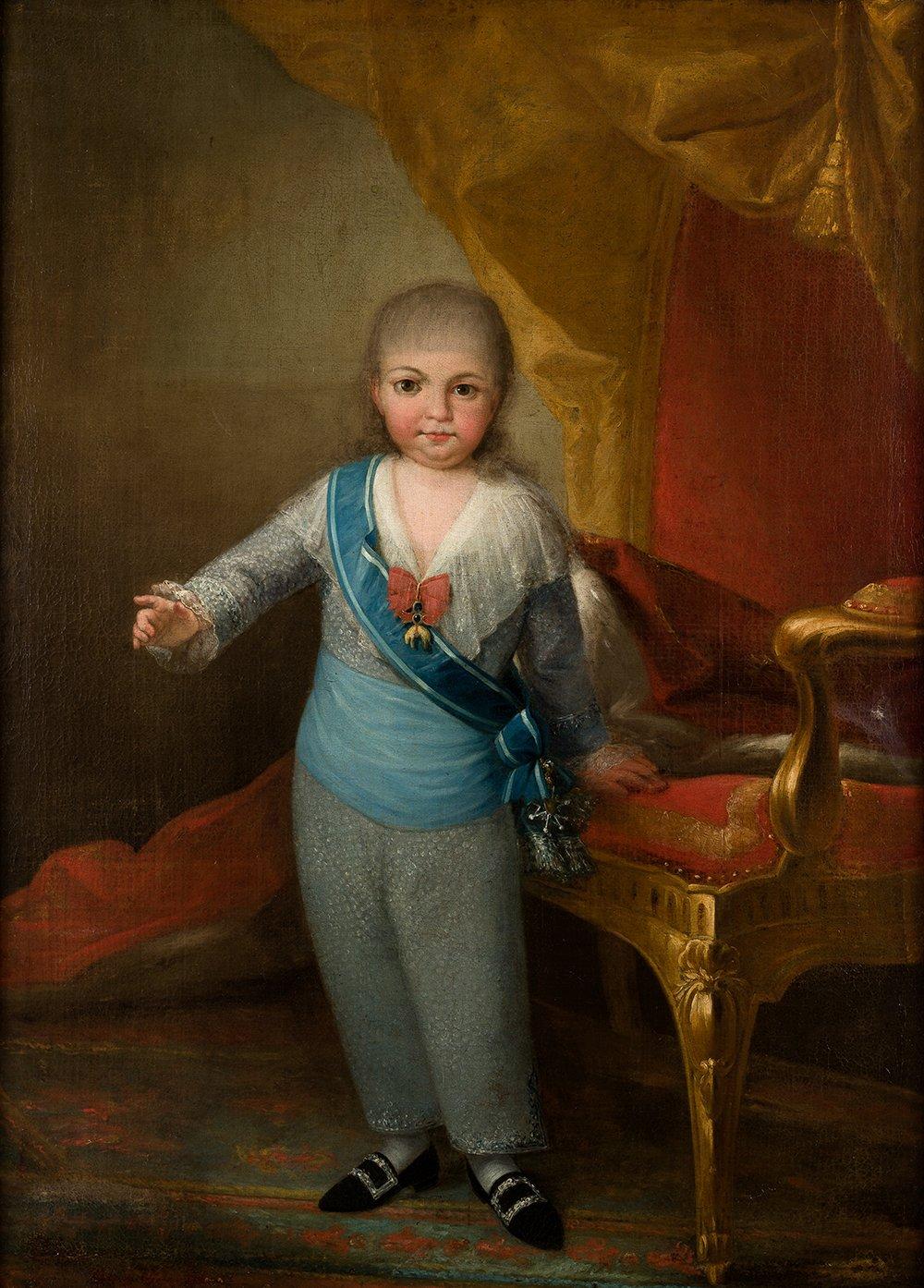 Antonio Carnicero. Fernando VII como Príncipe de Asturias, c. 1791. Salida y remate: 36.000 euros