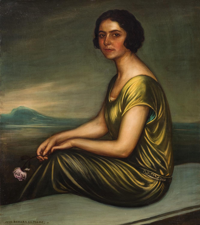 Julio Romero de Torres. Retrato de mujer. Salida: 18.000 euros. Remate: 27.500 euros