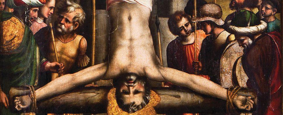 Atribuido a Juan Soreda. Crucifixión de San Pedro, detalle