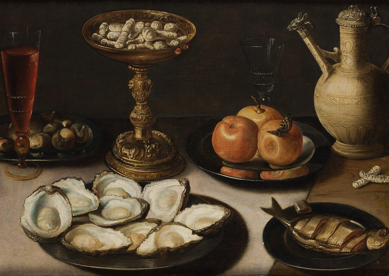 Osias Beert I. Naturaleza muerta con platos de ostras, frutas y arenques. Salida y remate: 95.000 euros