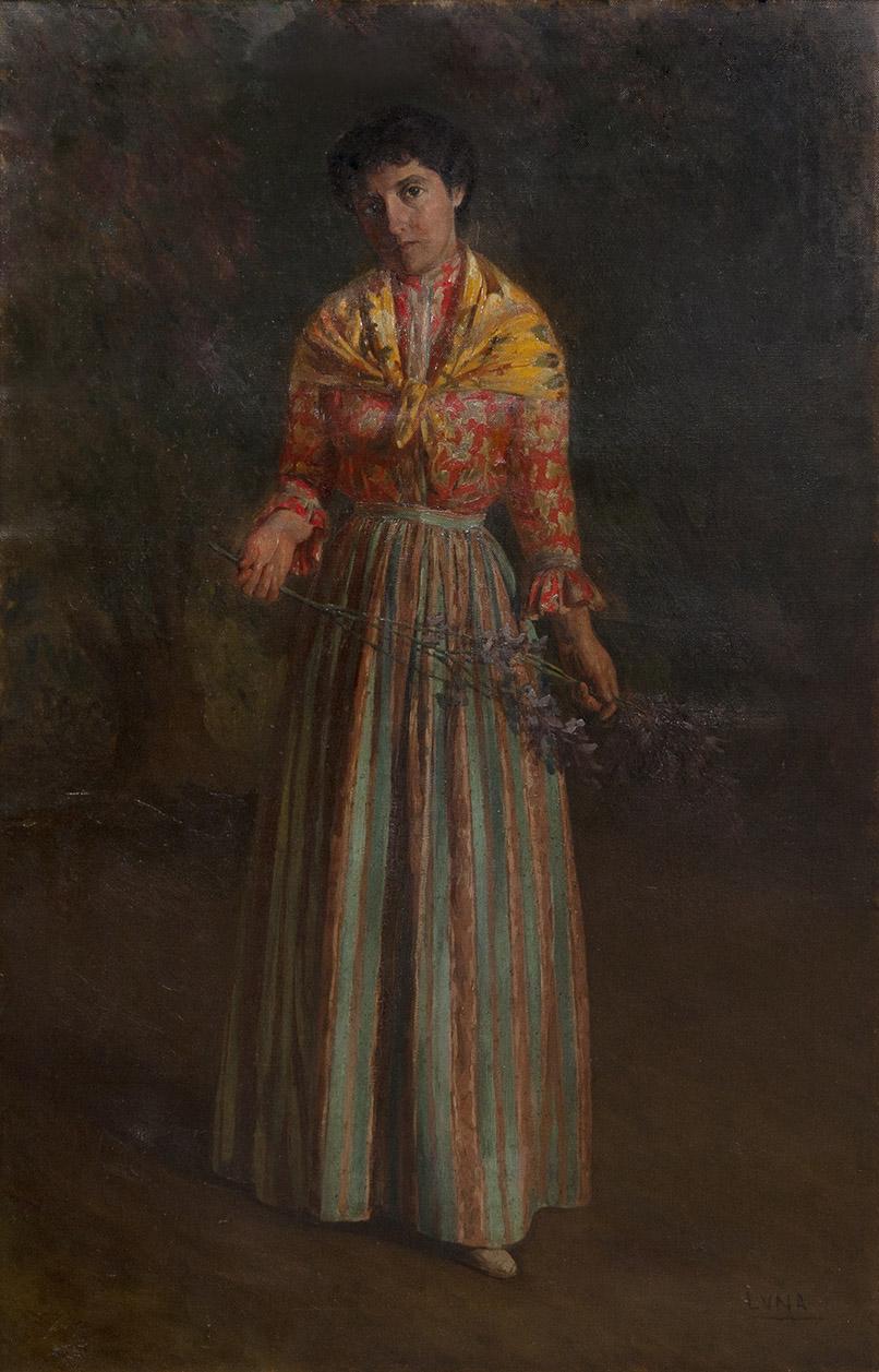 Juan Luna, Retrato de joven con vara de flores. Salida y remate: 30.000 euros